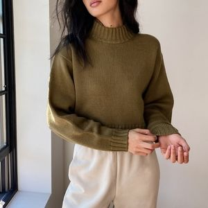 Wilfred Free Harper Merino Wool Sweater Dark Teal